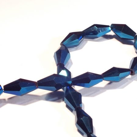 Faceted Long Bicones