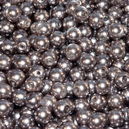 100 Khaki Glass Pearl Round Beads 4MM LIMITED