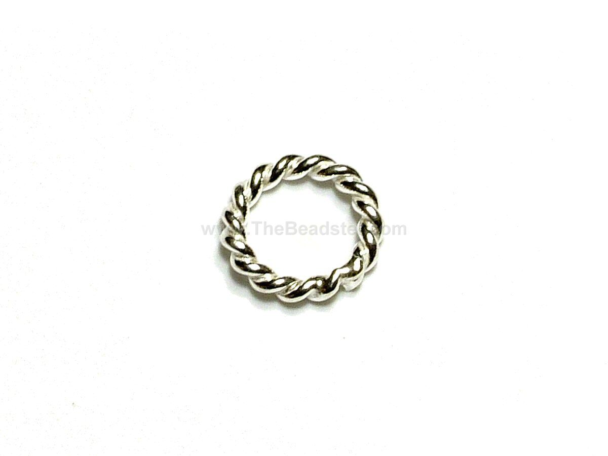 10 x soldered sterling silver twisted jump rings 6mm the