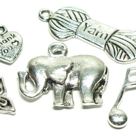 Tibetan Style Silver Charms